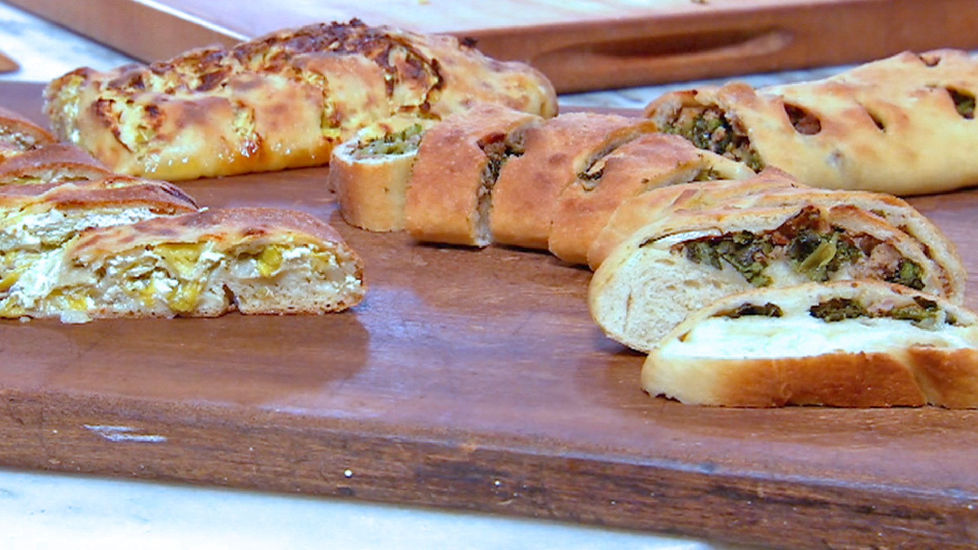 Pizza Rolls with Broccoli Rabe and Sausage or Ricotta and Leeks