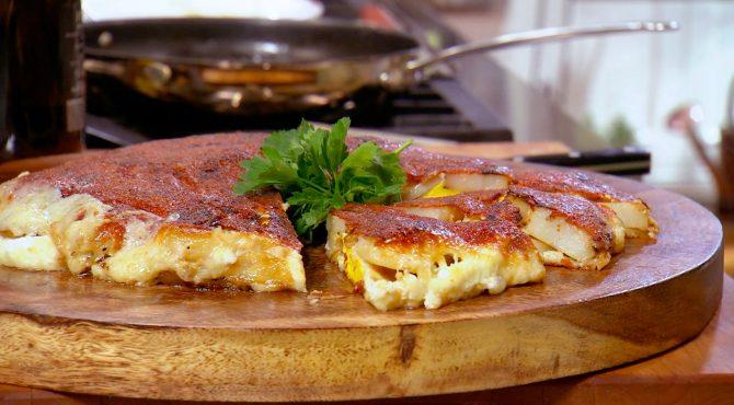 potato and egg frico
