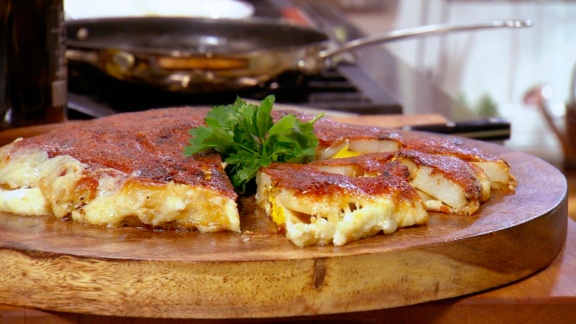 Potato and Egg Frico (with Asiago Cheese)