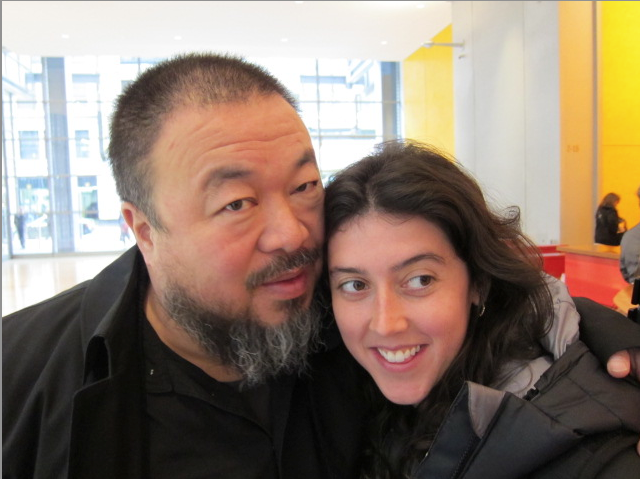 Filmmaker Alison Klayman with Ai Weiwei