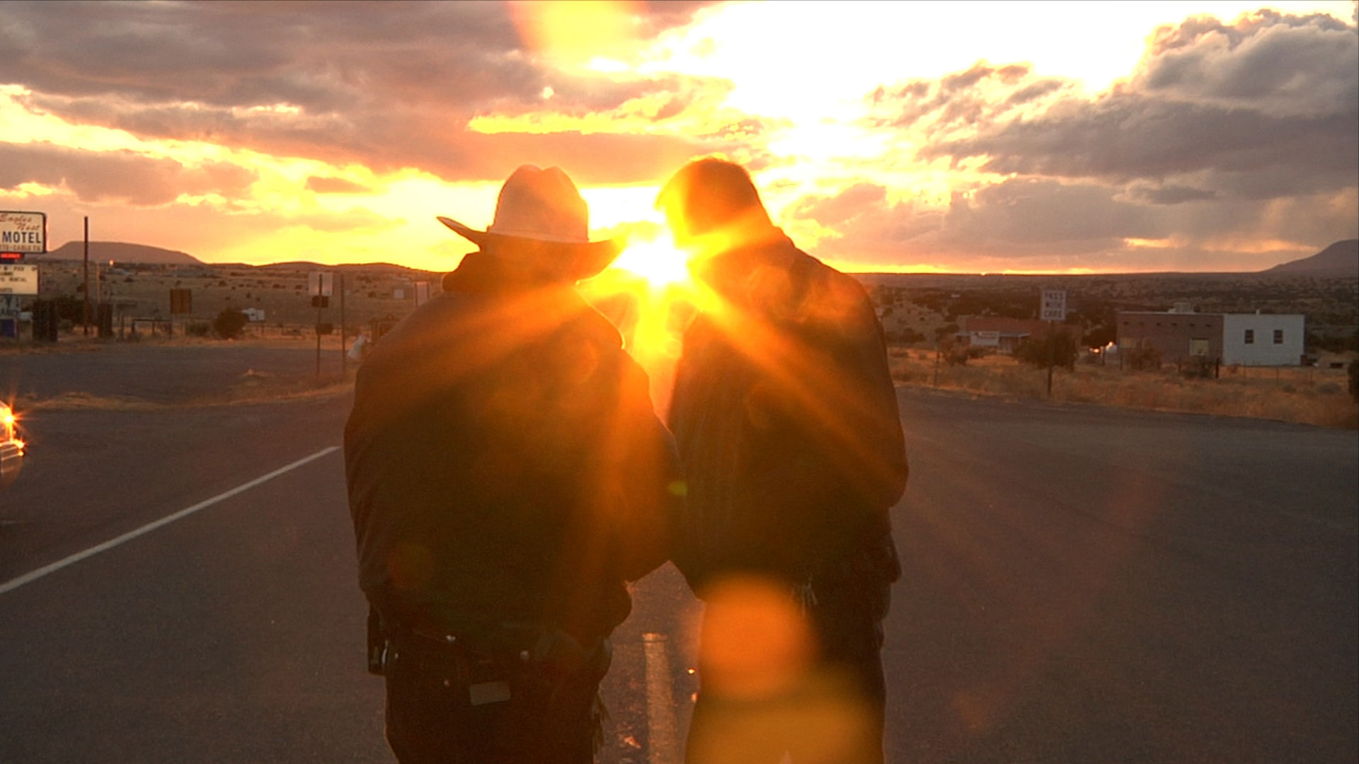 Sheriffs in New Mexico at Sunset, in House I Live In, photo by Derek Hallquist