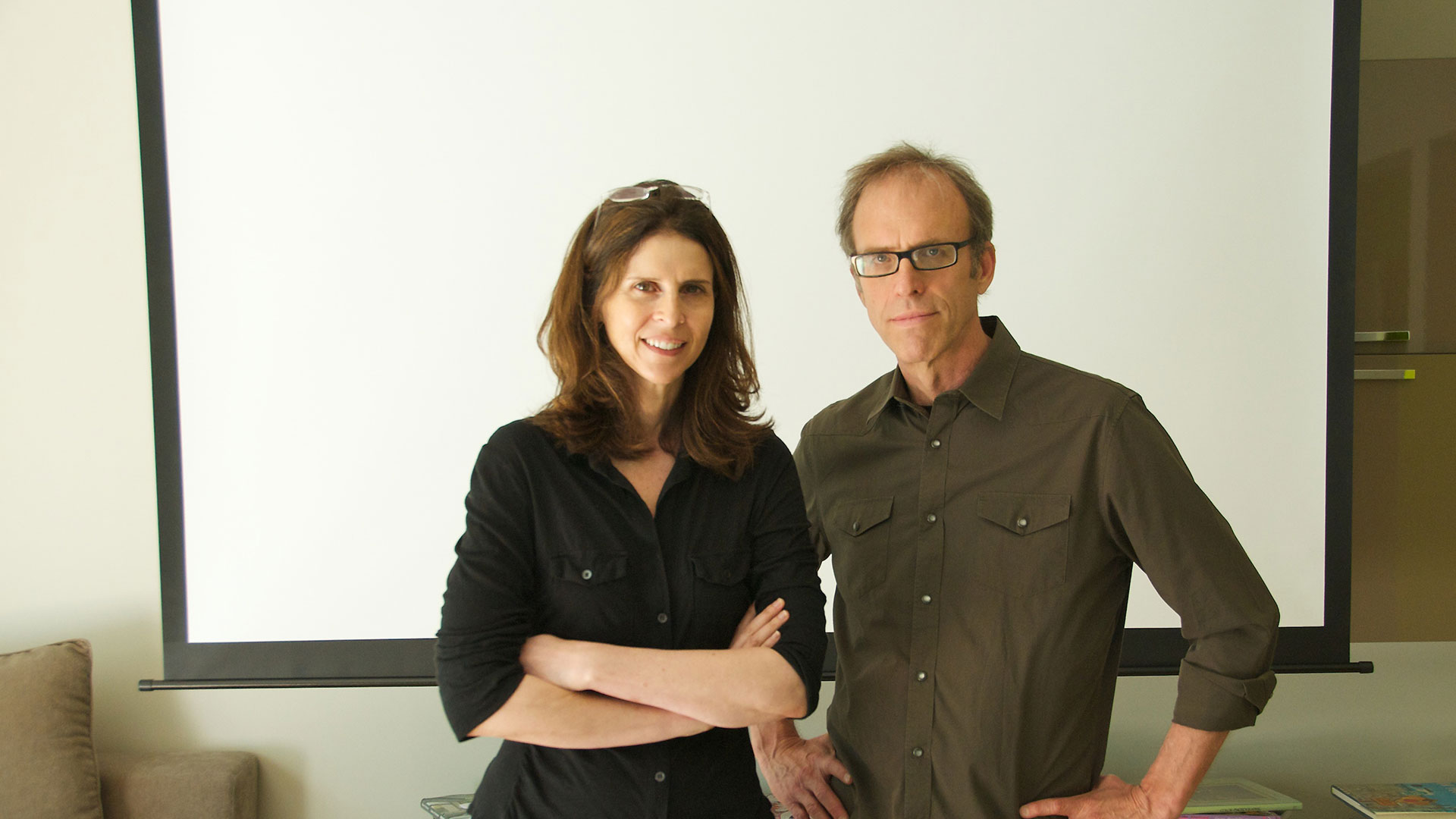 Invisible War filmmakers Amy Ziering and Kirby Dick.