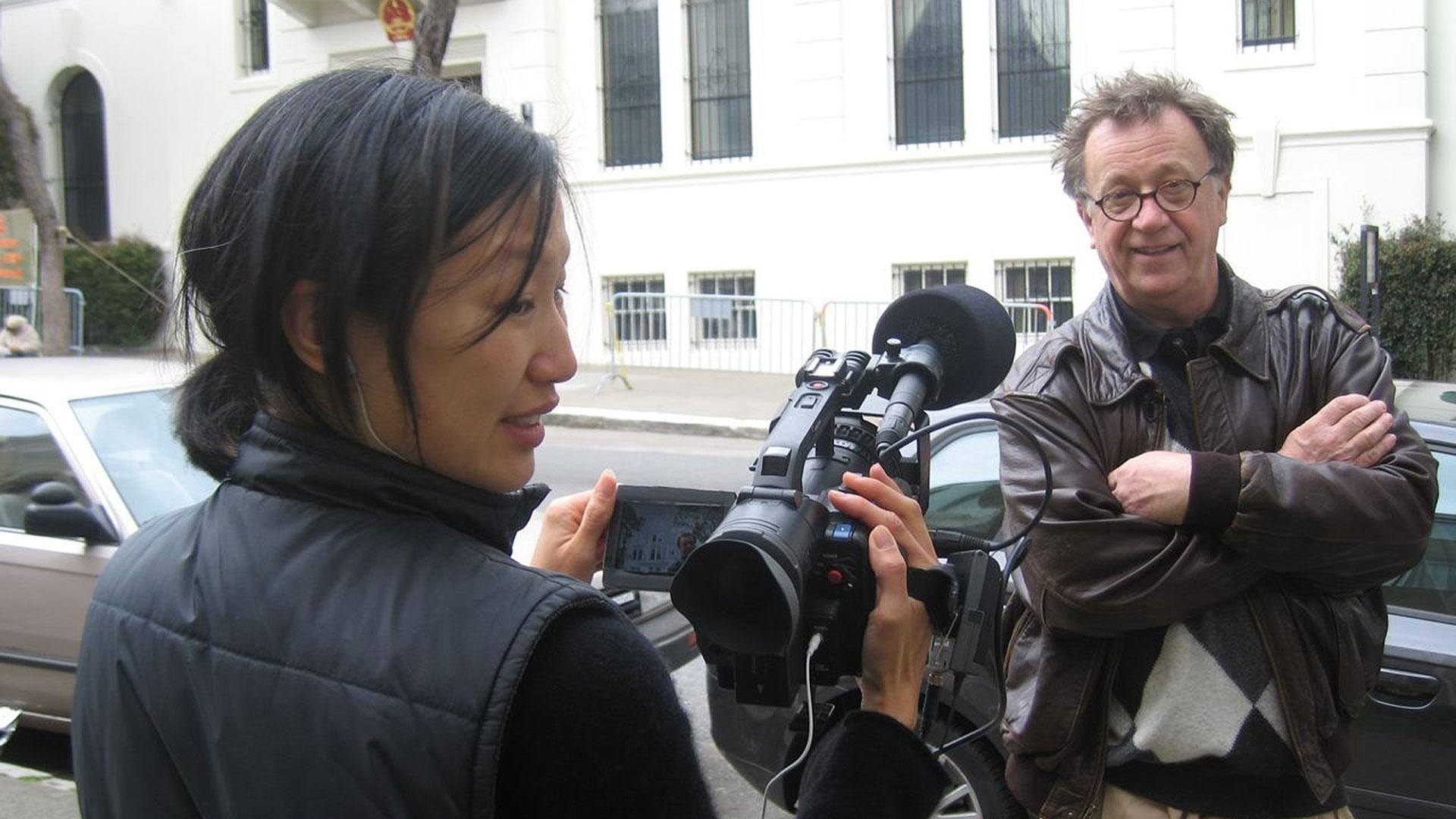 Seeking Asian Female director Debbie Lum with subject Steven.