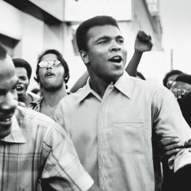 Archival photo of Muhammad Ali.