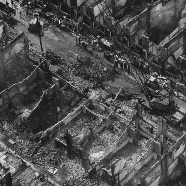 Leveled Philadelphia row houses after the MOVE bombings