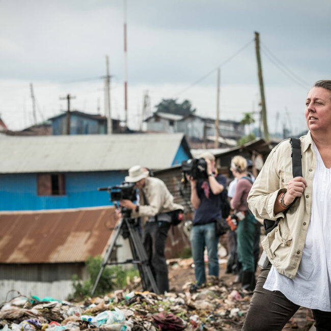 A Path Appears filmmaker Maro Chermayeff in Kibera, Nairobi, Kenya