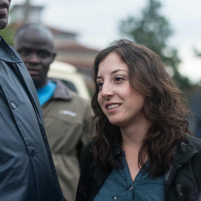Jessica Posner Odede at work in Kibera, Nairbi, Kenya.