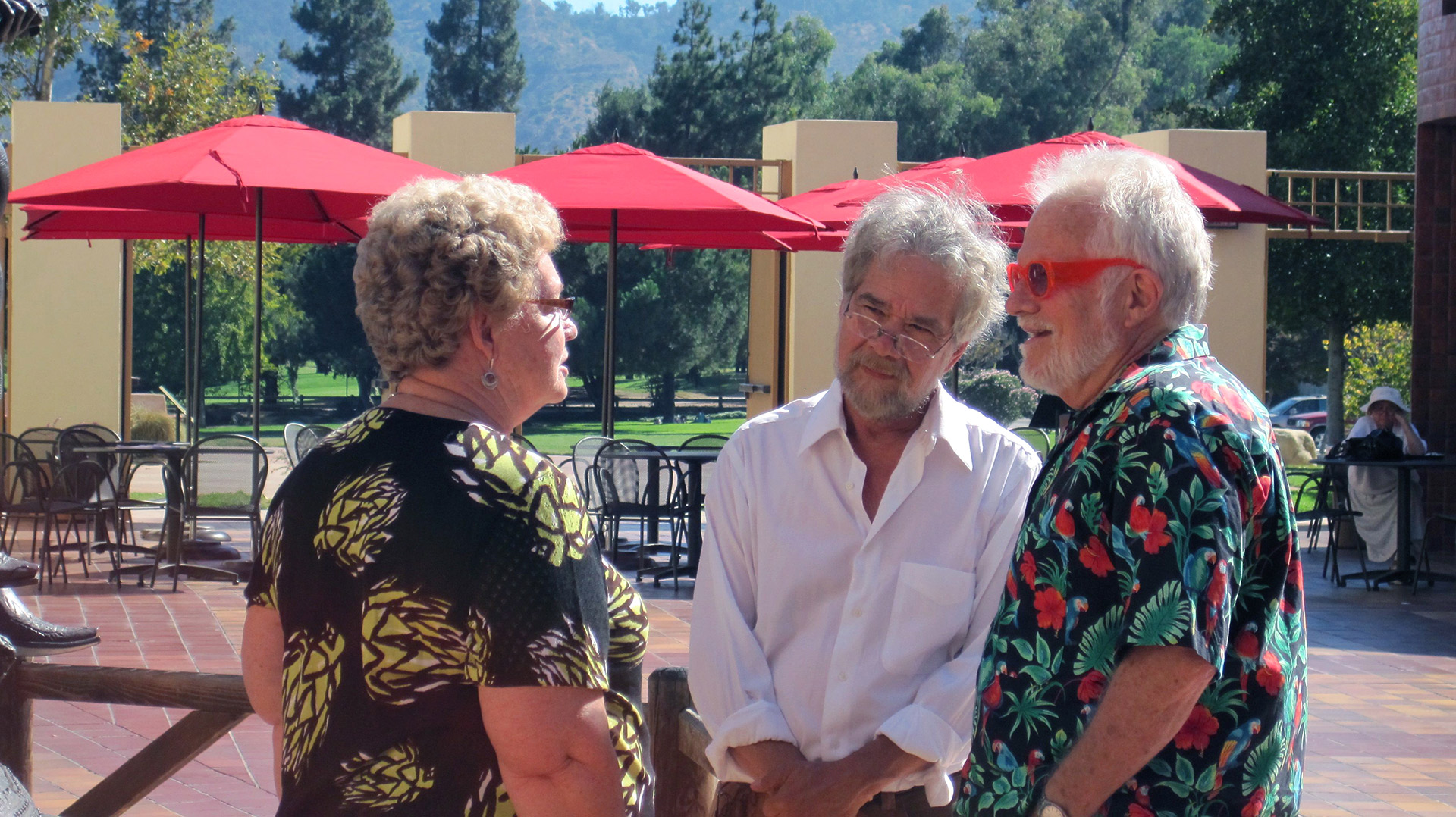 Clela Rorex, Richard Adams, and Tony Sullivan re-united decades after Clela issues the couple's groundbreaking marriage license.