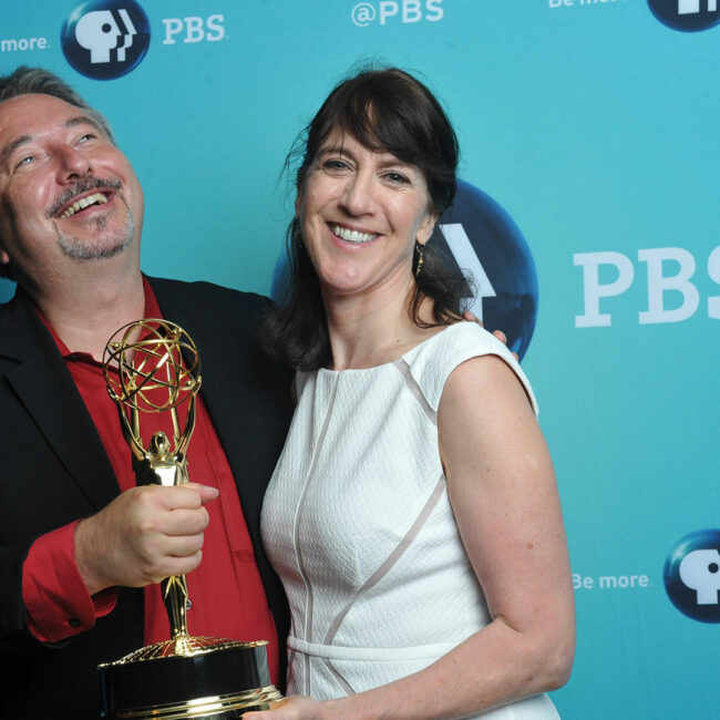 Trials of Muhammad Ali director Bill Siegel with Independent Lens Executive Producer Lois Vossen.