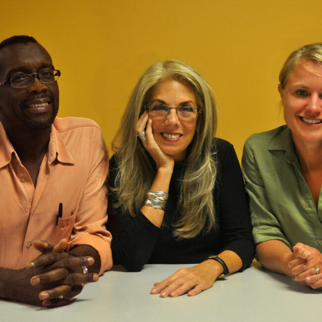 American Denial filmmakers Llewellyn Smith, Christine Herbes-Sommers, and Kelly Thomson