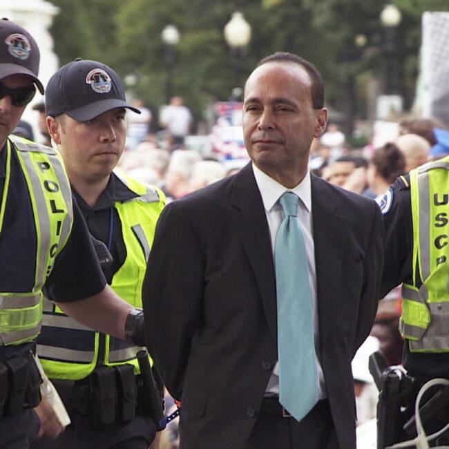 Illinois Congressman Luis Gutiérrez arrested during immigration reform protest.