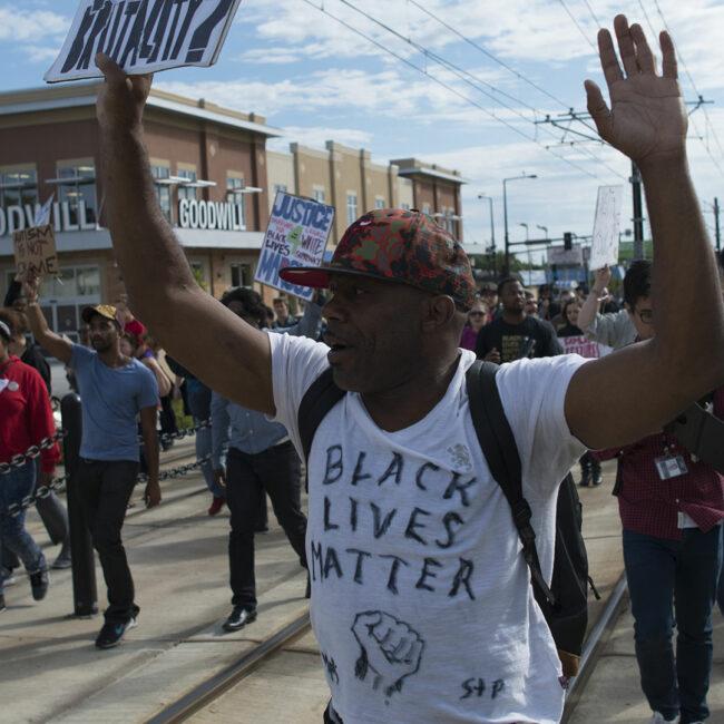 Black Lives Matter protest against St. Paul police brutality.