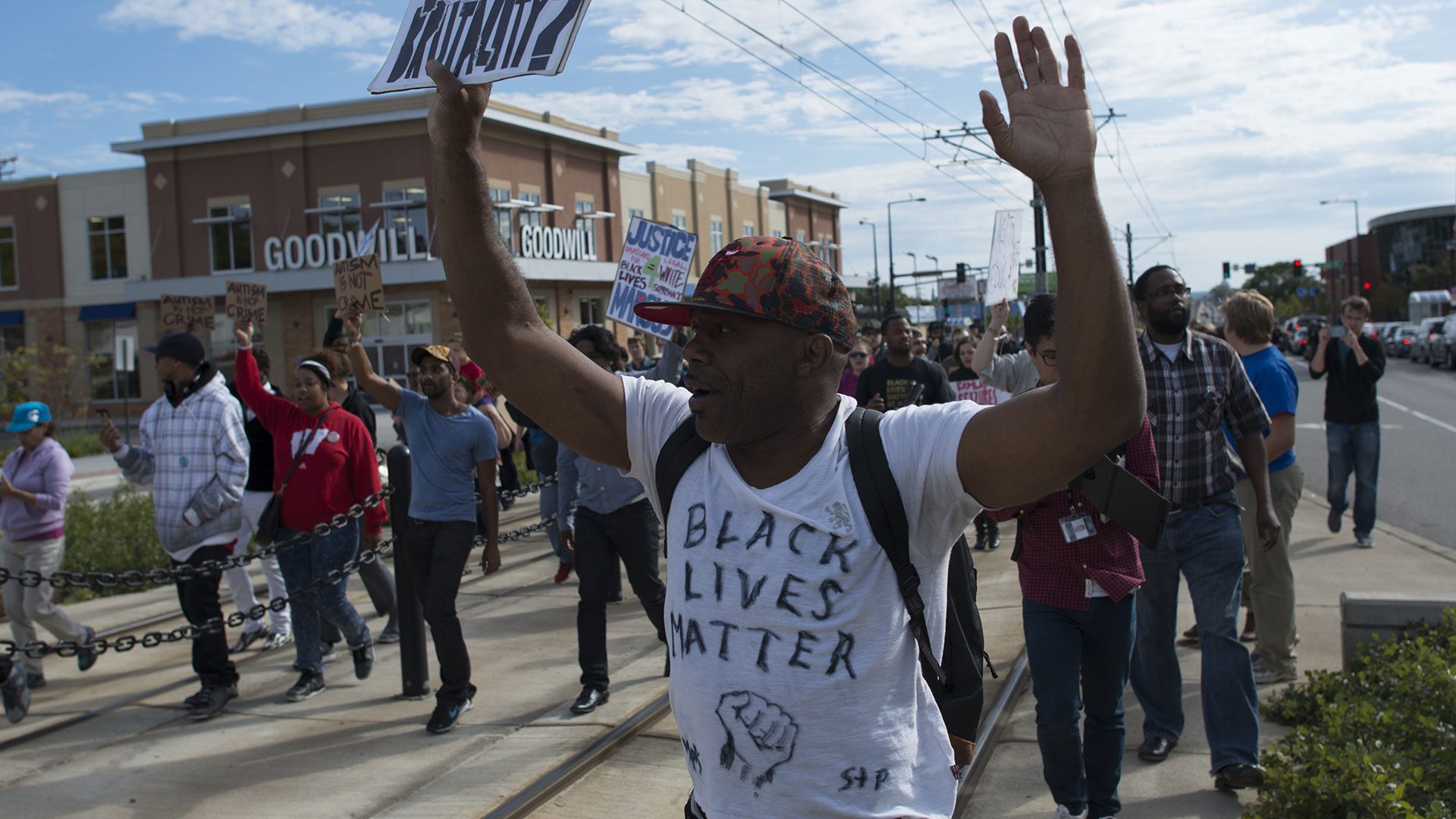 Black Lives Matter protest against St. Paul police brutality.