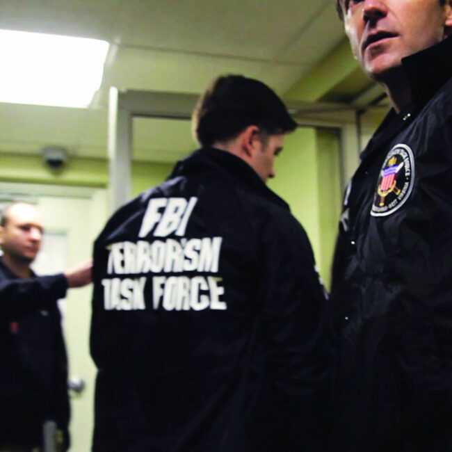 FBI terrorism task force agents on surveillance mission