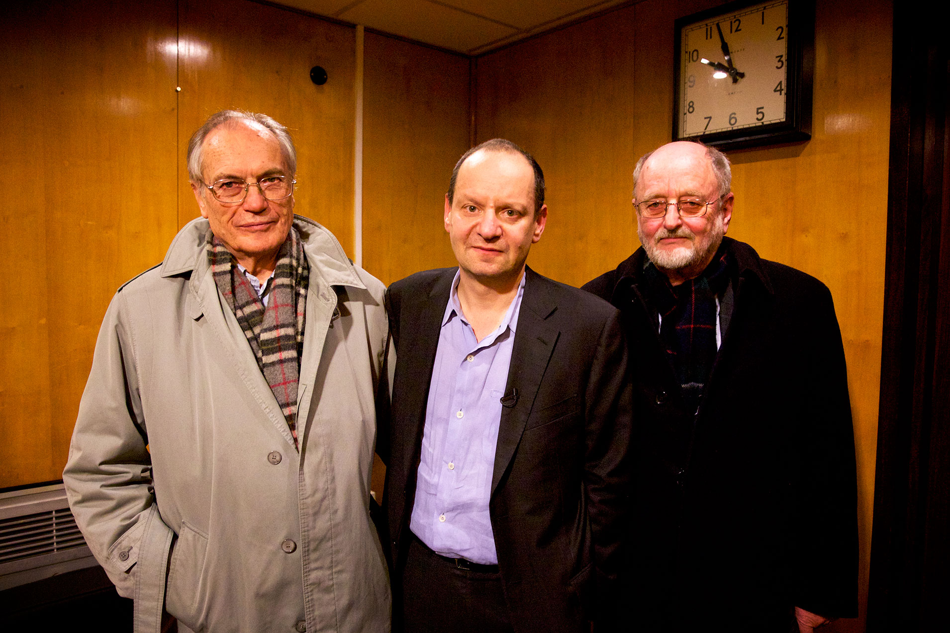 From left to right: Horst van Wächter, Philippe Sands, and Niklas Frank