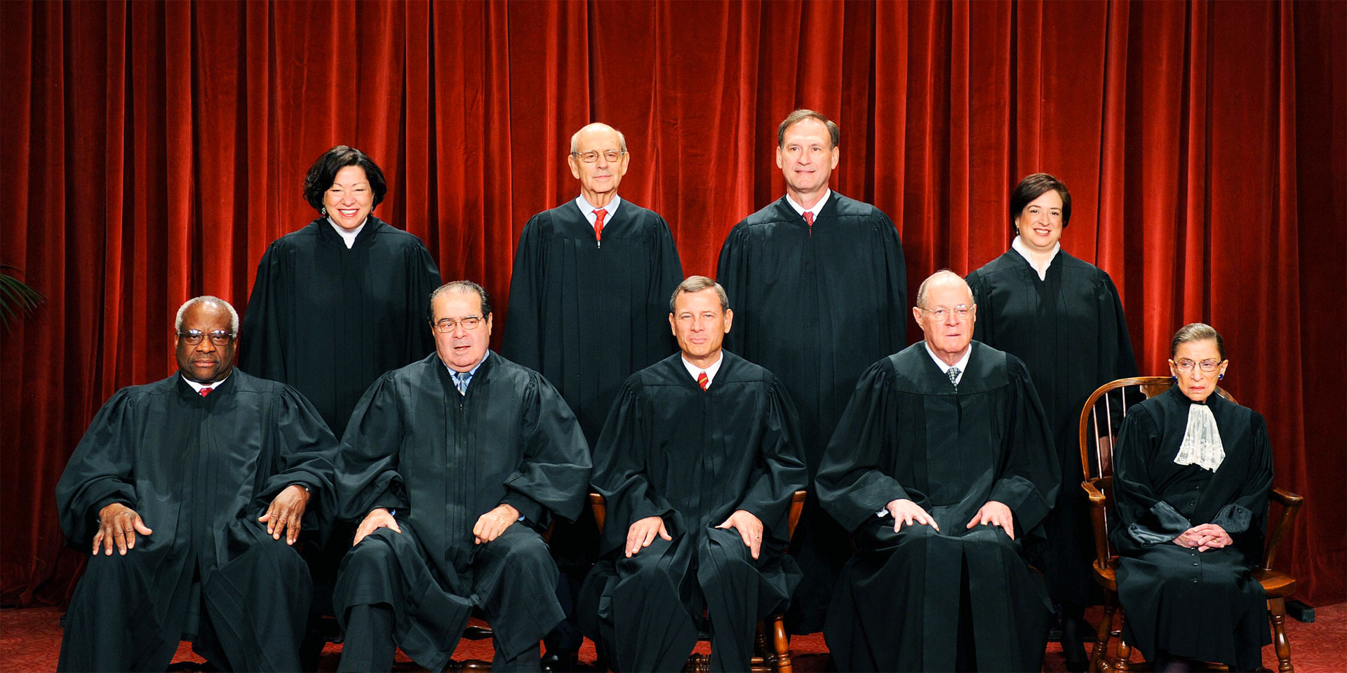 The Supreme Court of the United States, including the late Antonin Scalia (there are currently 8 justices until a 9th is confirmed).