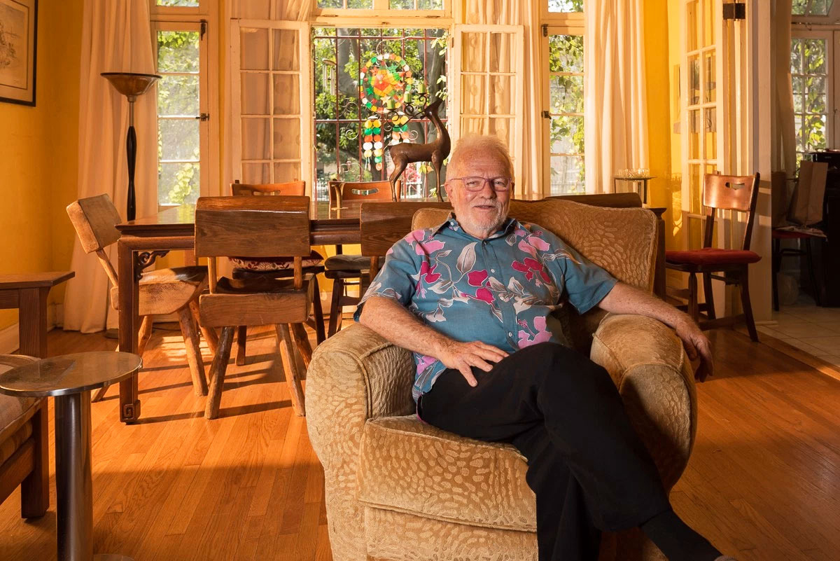 Tony Sullivan in the living room of the home he shared with late partner Richard Adams for decades
