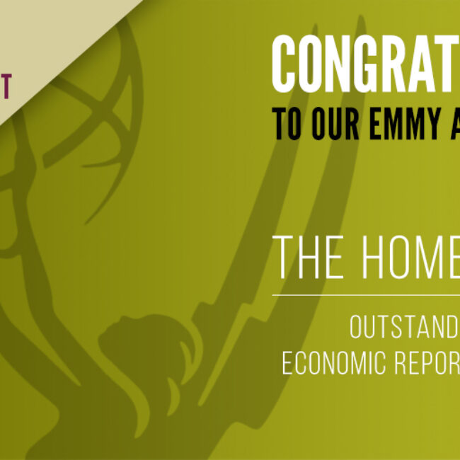 Promotional image for The Homestretch News & Doc Emmy