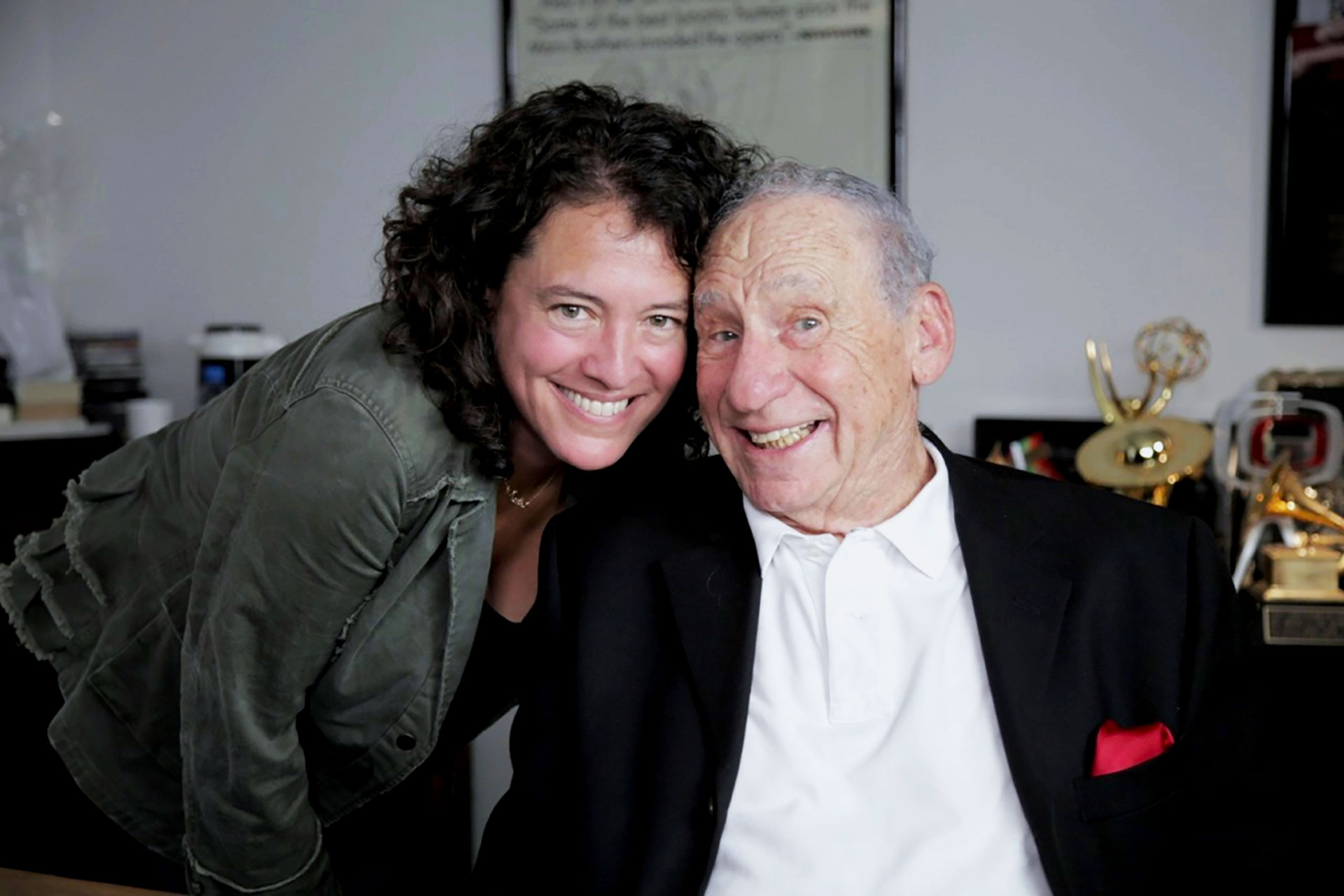 The Last Laugh filmmaker Ferne Pearlstein with director/writer/comedian Mel Brooks