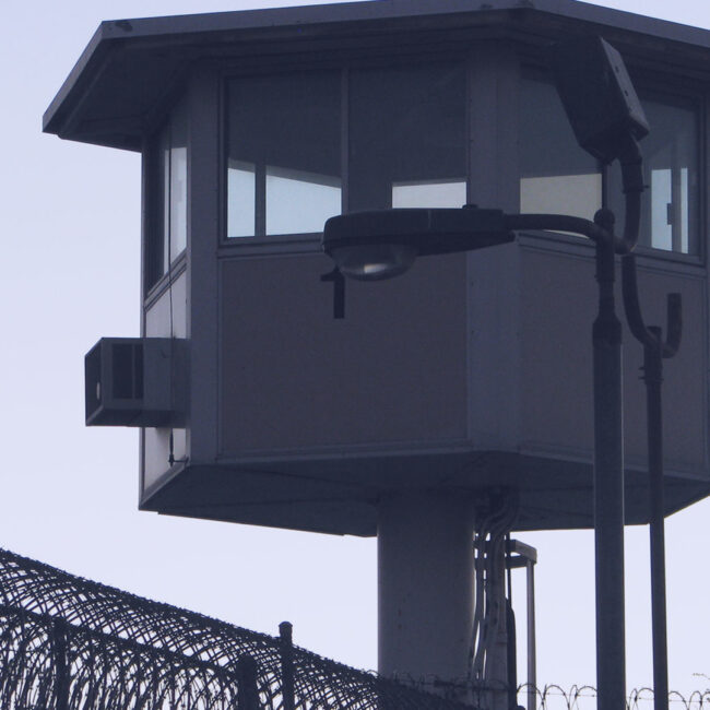 Guard tower at an American prison