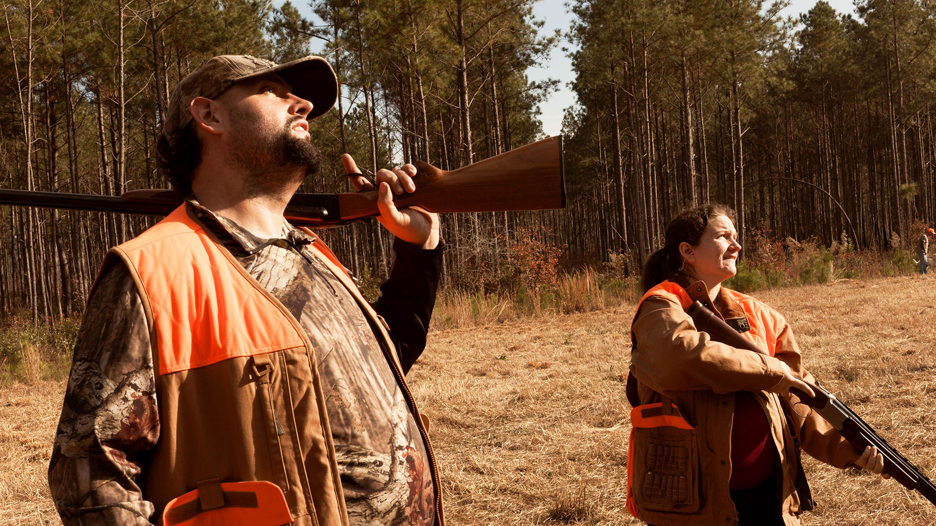 Alex and Jessica Sutton, doing some hunting, in Farmer/Veteran