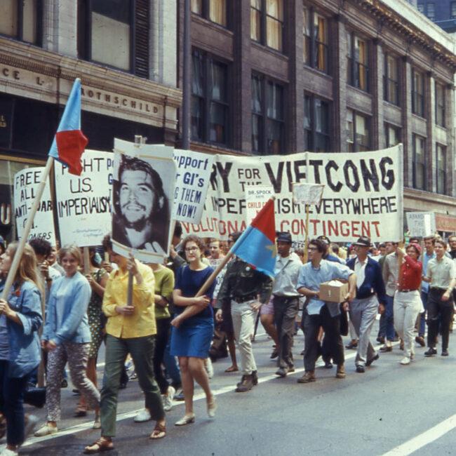 Anti-War March Chicago, 1968 (public domain)