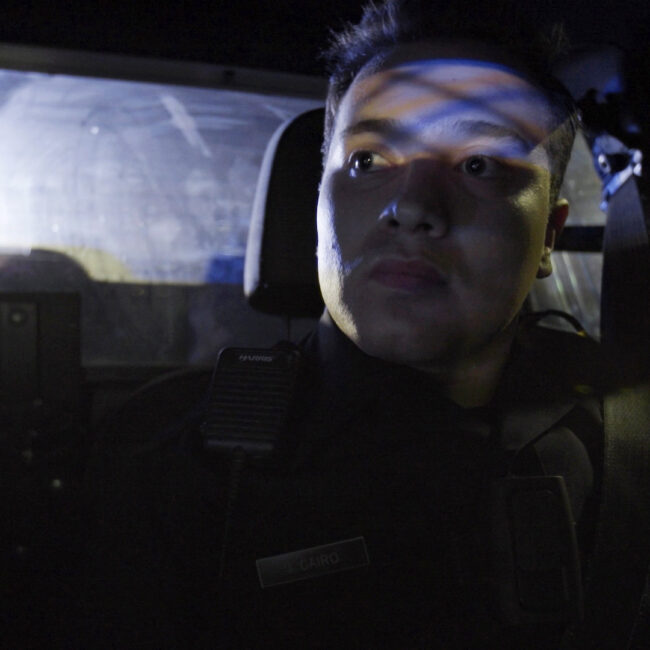 The Force, riding in police car with Officer Cairo