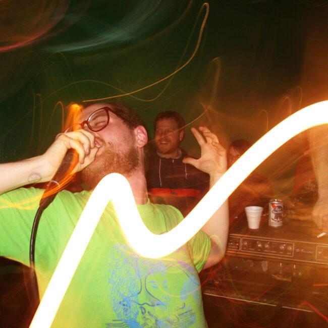 Musician/Composer Dan Deacon performing; photo by Adam Boaz