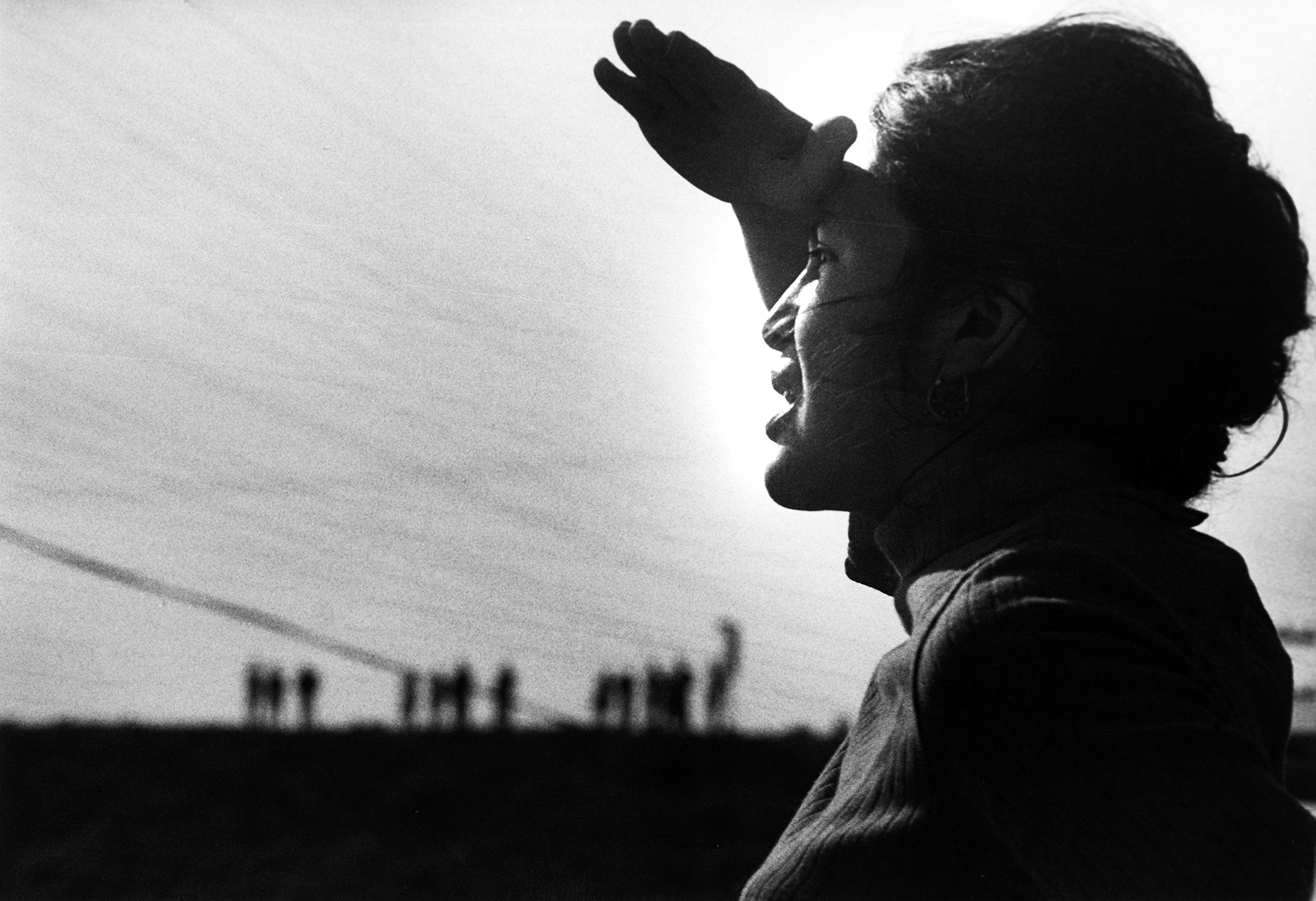 Dolores Huerta, black and white photo, from