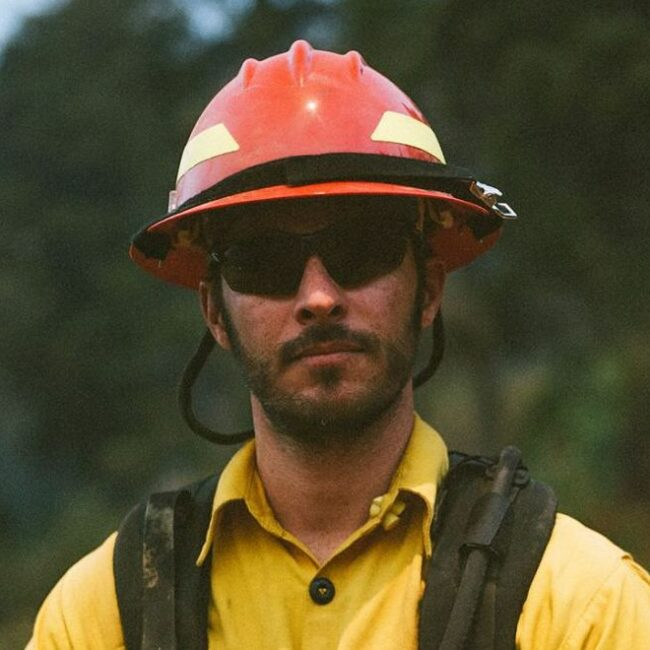 Filmmaker turned firefighter Alex Jablonksi, on the job for