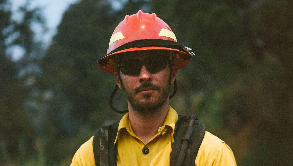 Filmmaker turned firefighter Alex Jablonksi, on the job for