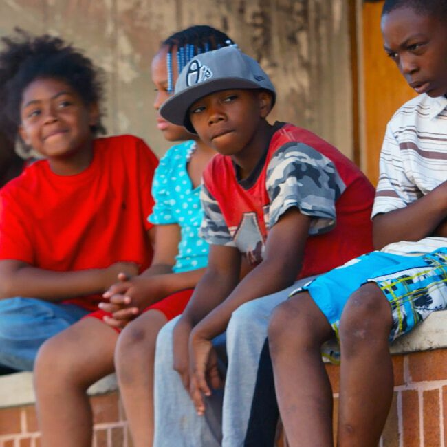 Kids in Rose Street, Baltimore, in Charm City