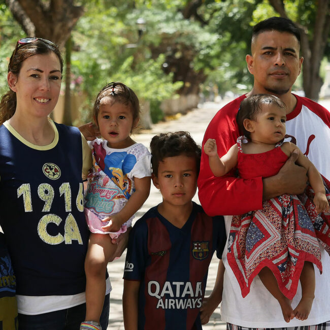 Elizabeth Perez and kids and Marcos