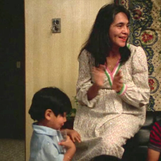 Dolores Huerta and some of her kids, in a home movie seen in