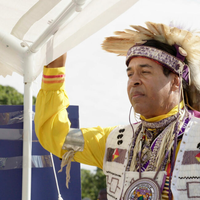 Lance Gumbs at the Shinnecock Pow Wow