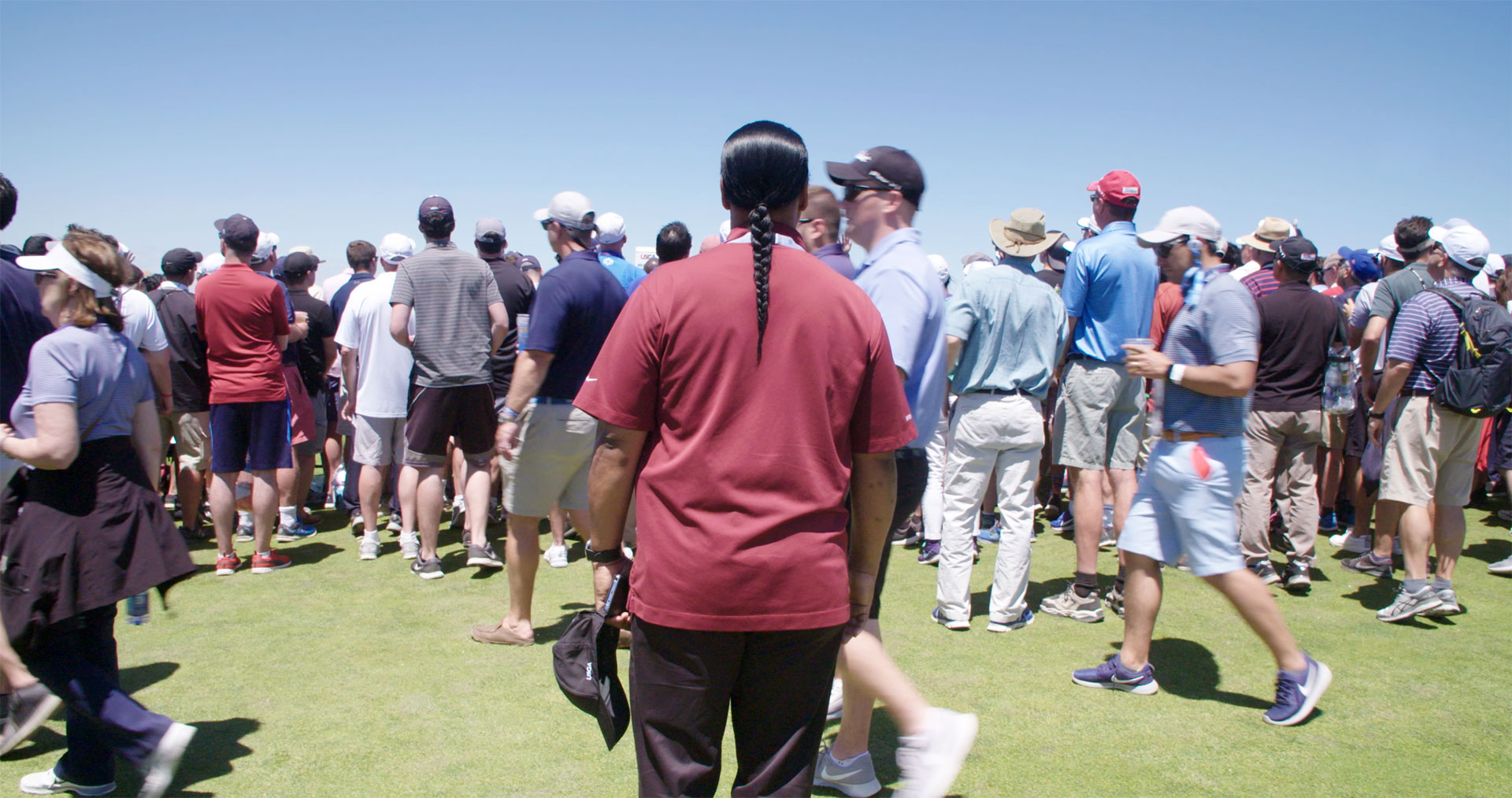 Shinnecock Tribal trustee Lance Gumps at the US Open