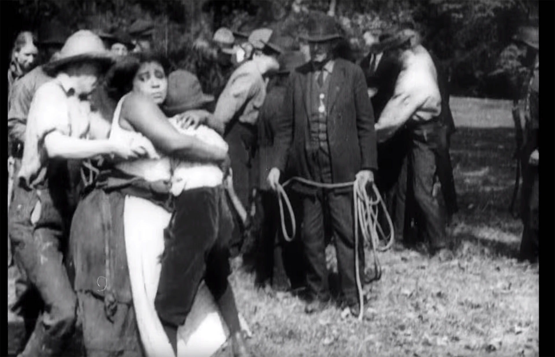 Lynching scene in Within Our Gates (by Oscar Micheaux)