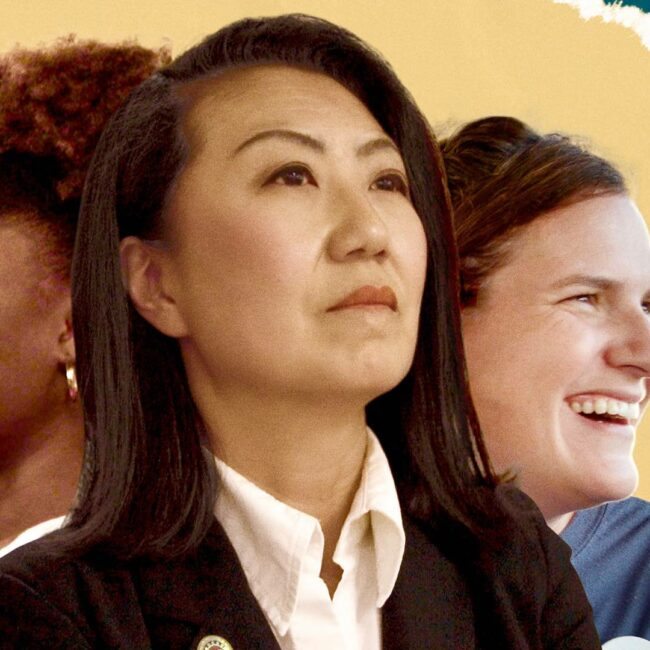 the three women running for office, composite image for Represent