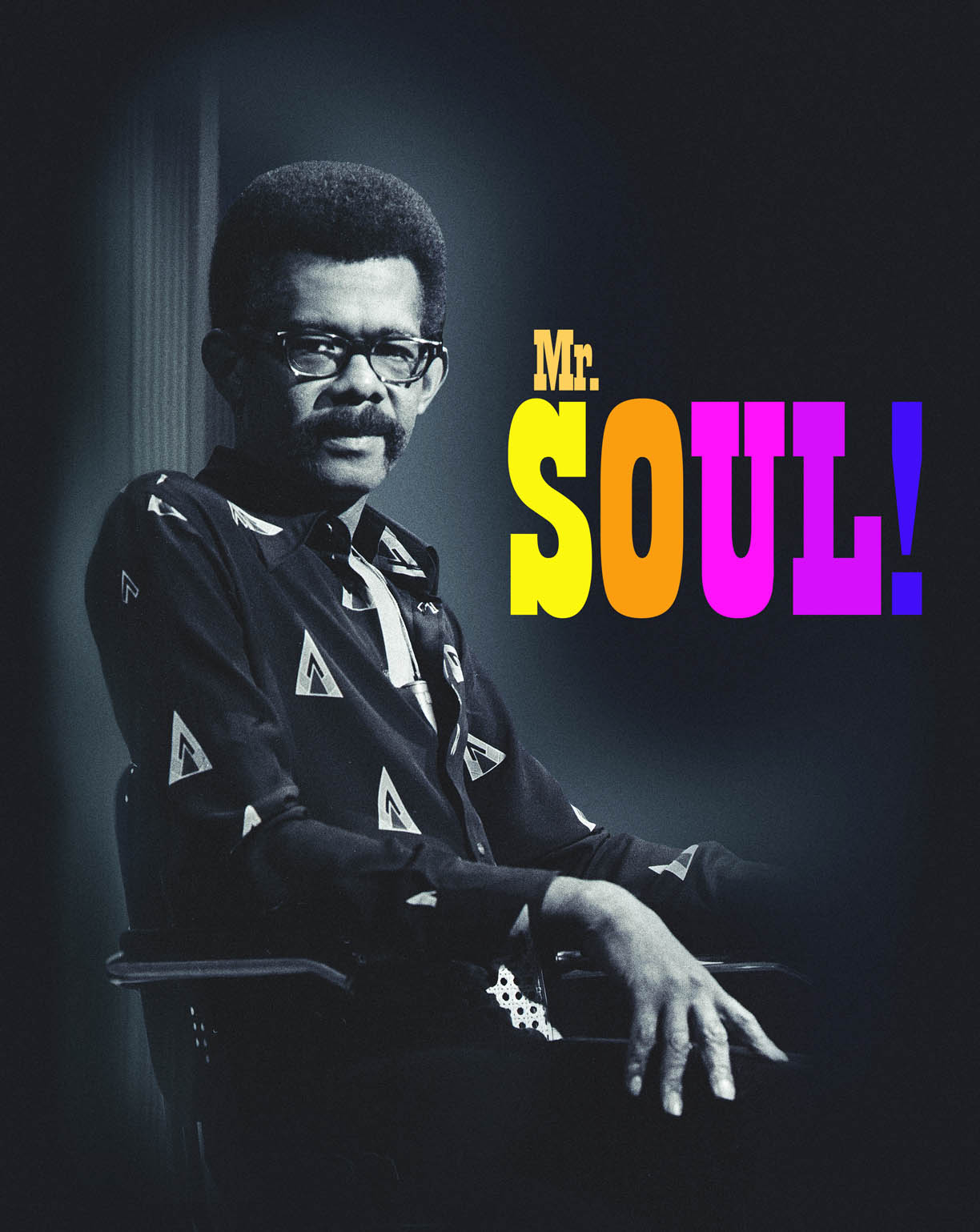 Mr. Soul sitting with guests