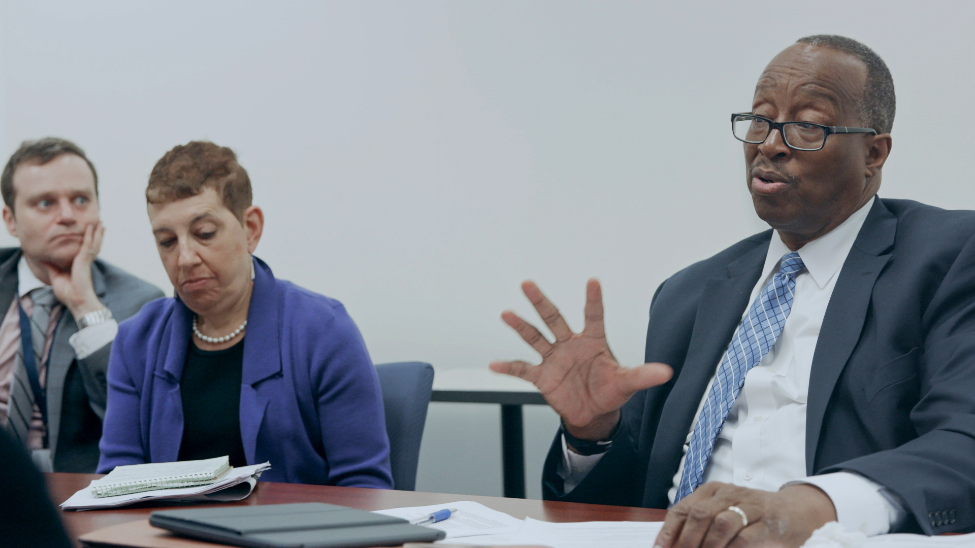 Bob Listenbee during a meeting at DA's office in Philly D.A.