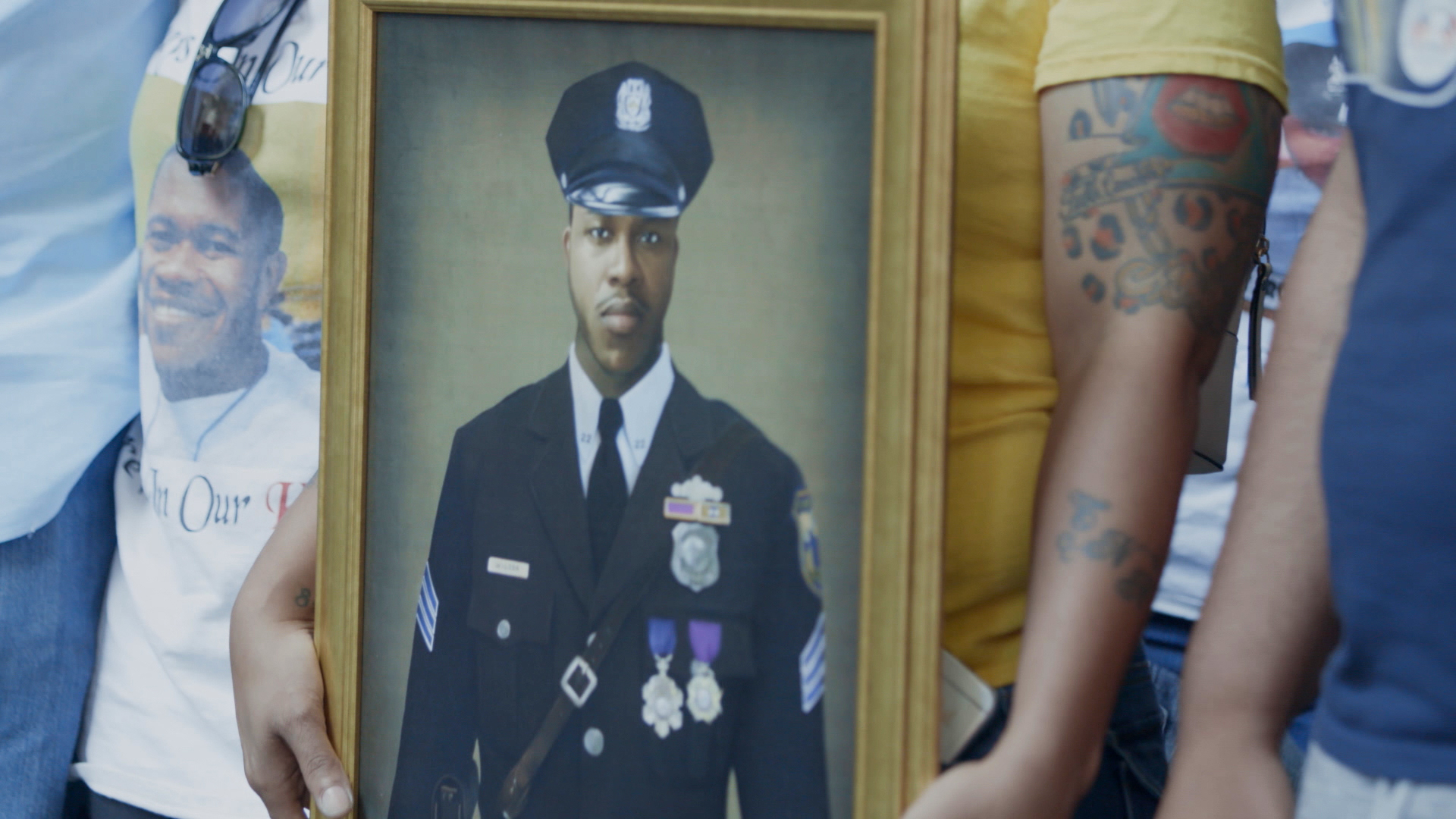 Picture of Sgt Wilson at his funeral