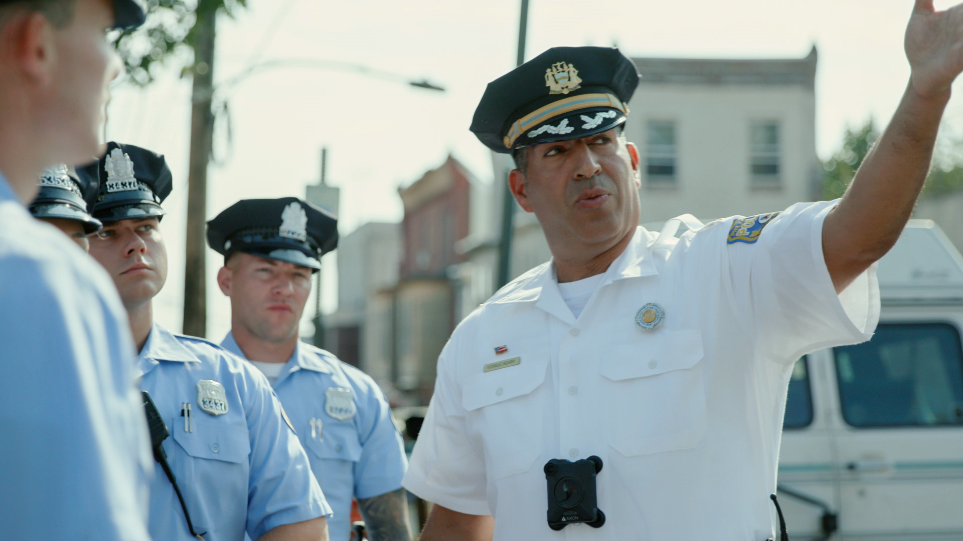 Captain Rodriguez with some of his officers