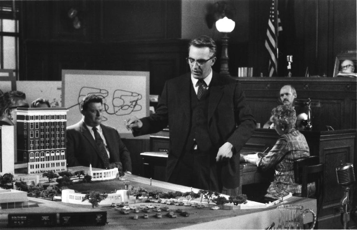 Kevin Costner as Jim Garrison in the movie JFK in courtroom scene