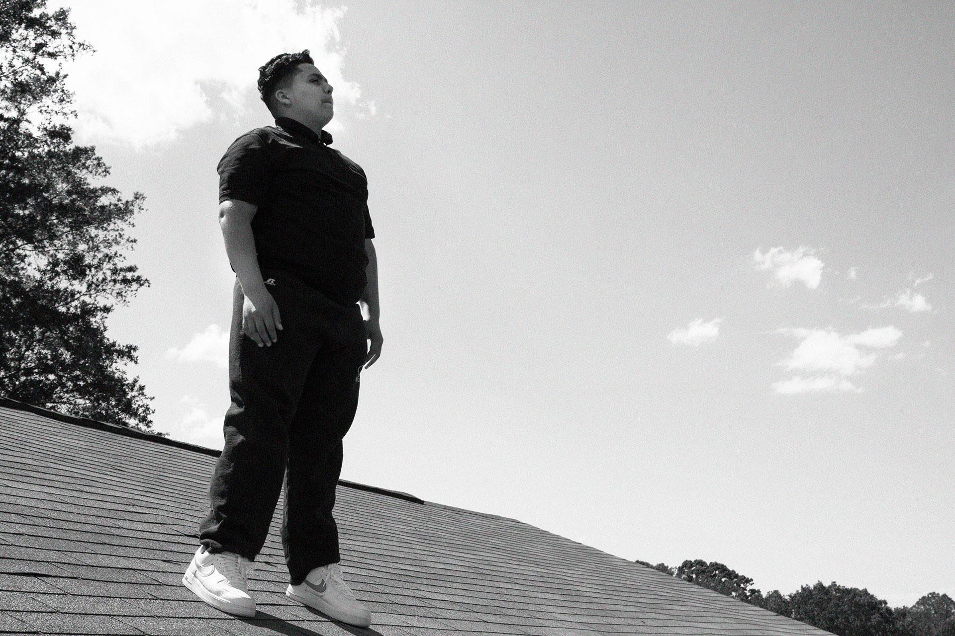 Furquan on a roof, from Two Gods