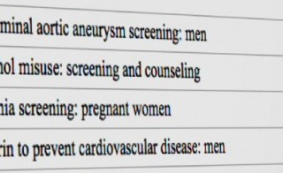 U.S. Preventive Services Task Force recommendations