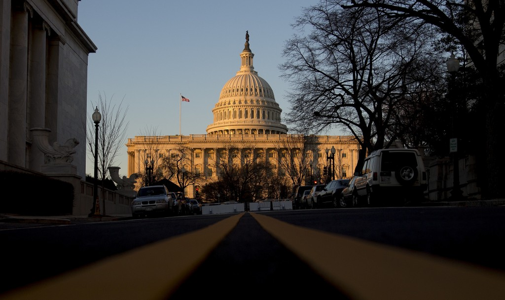 The U.S. Capitol stands in Washington, D.C., U.S., on Thursday, Dec. 12, 2013. A U.S. budget accord is on track to win passage in Congress largely because its most important accomplishment is pushing off automatic spending cuts that neither party likes. Photographer: Andrew Harrer/Bloomberg via Getty Images