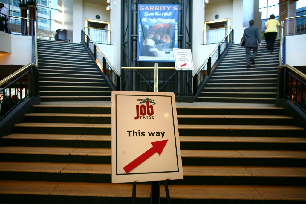 The unemployment rate in December 2012 was 7.9 percent. A year later, it's at 6.7 percent. But the employment picture, top economists agree, is not so simple. Photo courtesy of Matthew Staver/Bloomberg via Getty Images.
