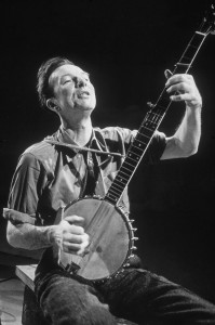 Pete Seeger playing the banjo in about 1966. Photo by Sam Falk/New York Times Co./Getty Images