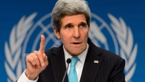 US Secretary of State John Kerry at the Geneva II peace talks on January 22, 2014, in Montreux.  Photo by Fabrice Coffrini/AFP