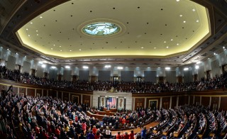 US President Barack Obama delivered his State of the Union address before a joint session of Congress on Jan. 28, 2014 at the Capitol in Washington, DC. Photo by Jewel Samad/AFP/Getty Images